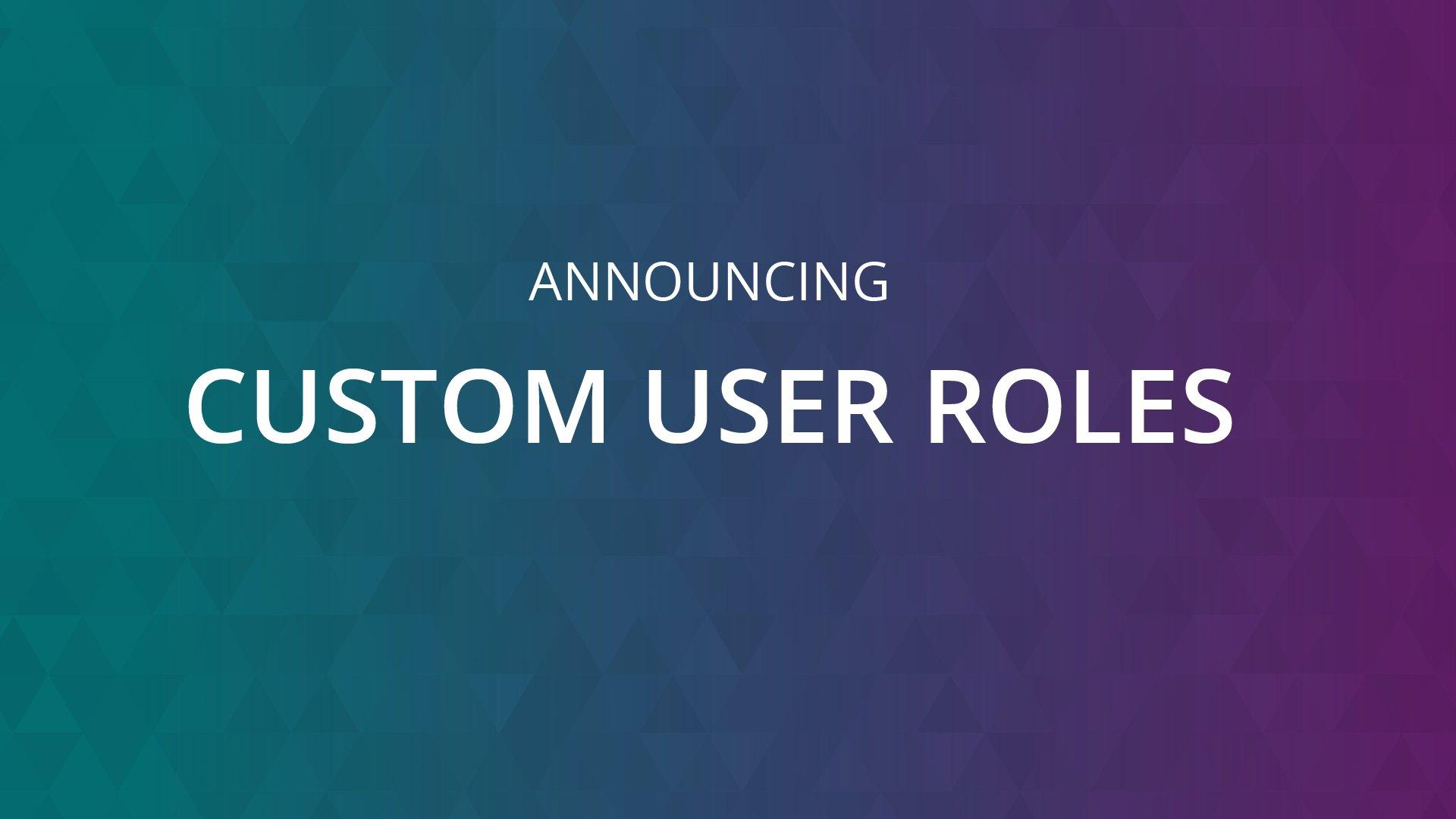 Custom User Roles Announcement Graphic