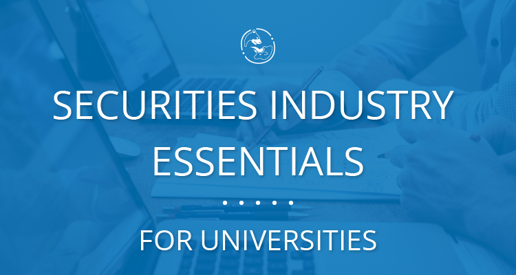 Securities Industry Essentials for Universities