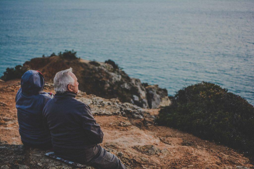 Elderly couple on seaside: Long-Term Care Insurance